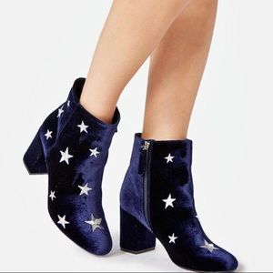 New! Midnight Blue Booties